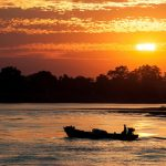 Sunset over Irrawaddy River - fulfill 2 days in Bagan