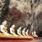 Buddha images in Kha Yon Cave, Hpa An