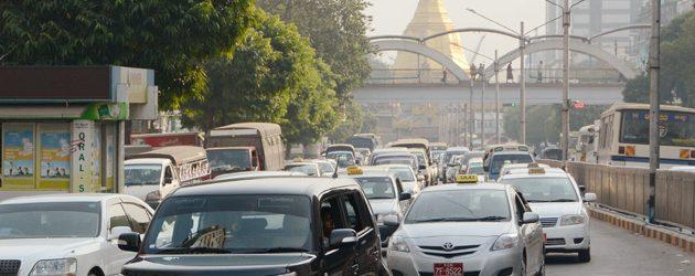 Car travel through Myanmar