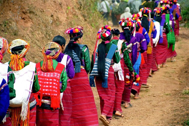 Palaung women in a traditional wedding, Kengtung