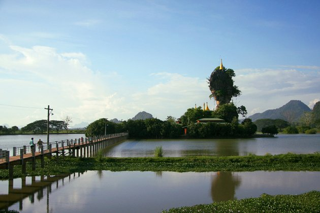 Scenic view of Kyauk Kalat Pagoda