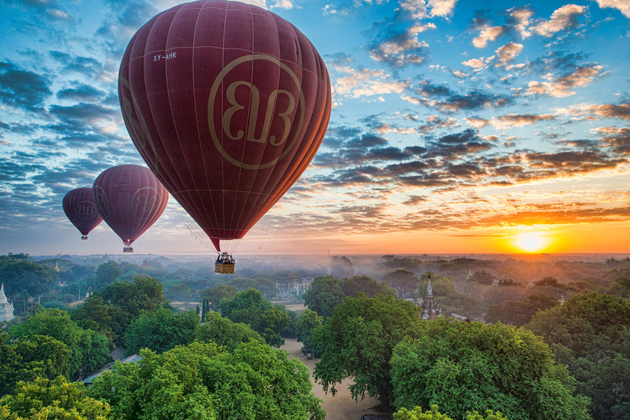 Bagan is one of the most fantastic places to have balloon experience