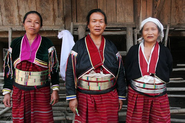 Ethnic women in Danu Tribal Village