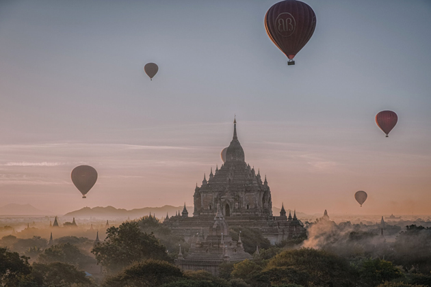 Myanmar is the most mysterious destination in the world to have balloon ride