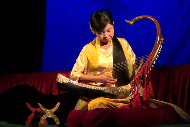 saung - the national musical instrument of myanmar