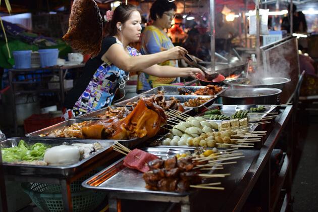 Anawrahta Road Night Market - interesting Yangon market