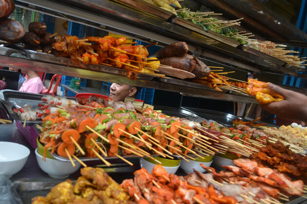 Chinatown Yangon - hustling and bustling market in yangon