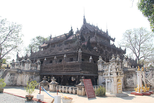 Shwenandaw Monastery - a famous attraction for Mandalay city tour