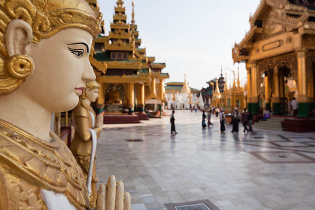 Almost Myanmar people follow their national religion - Buddhism