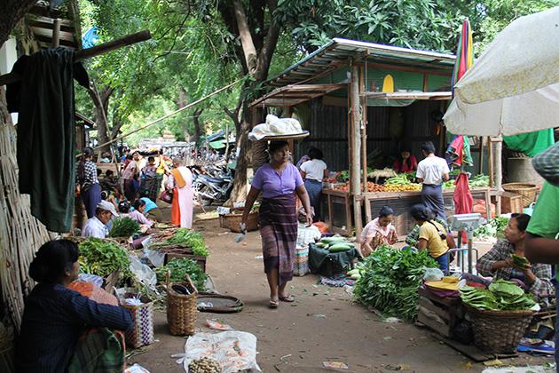 Bagan Nyaung Oo Local Market