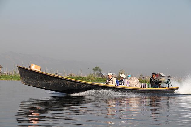 Boat trip in Inle Lake