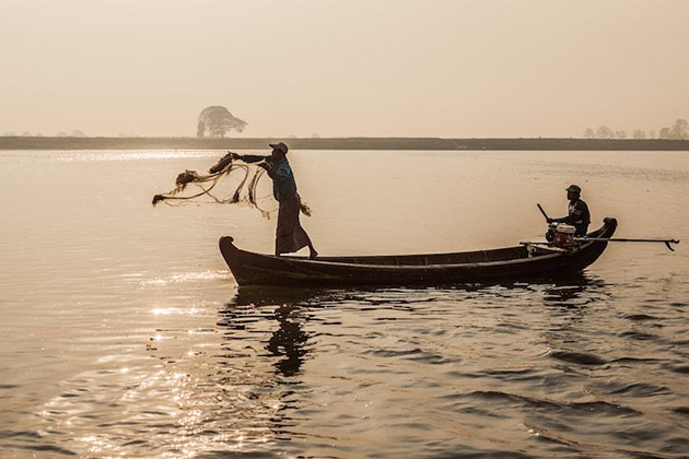 Fisherman The Ayeyarwaddy Dolphin Mandalay