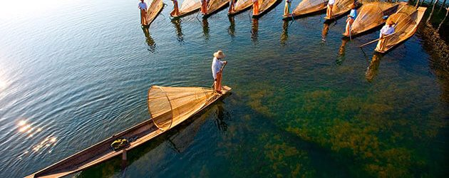 Inle Lake fishermen highlight of myanmar tours