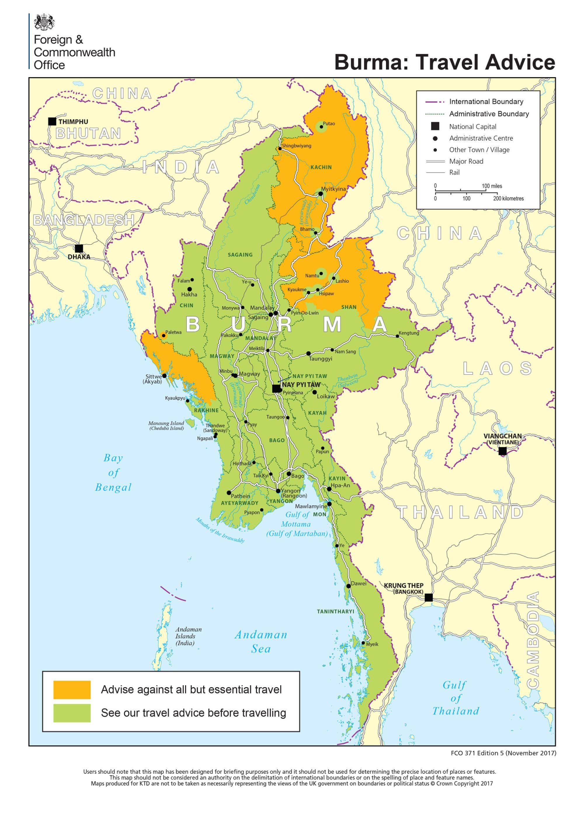 Myanmar safe map