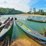 boat trip in Hsipaw Myanmar