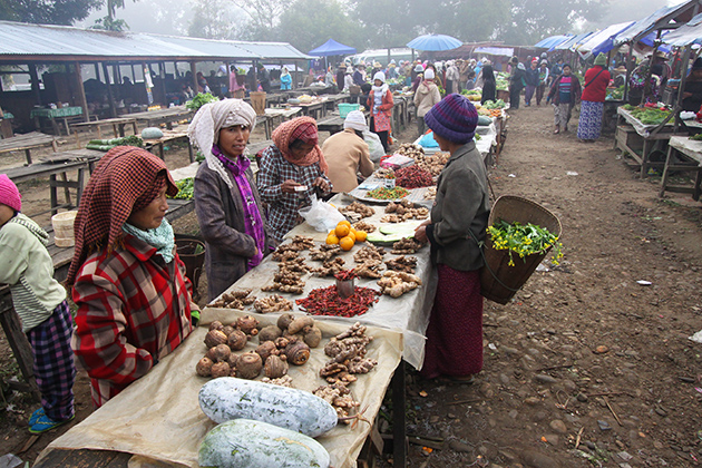 Local Market in Putao Myanmar