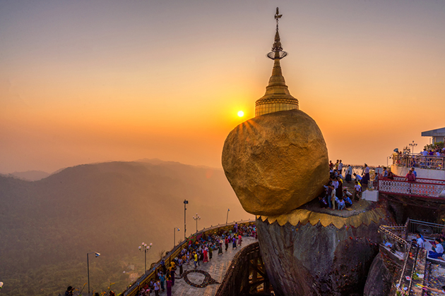 Myanmar Tourism Golden Rock