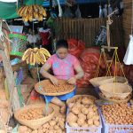 local women and products in Nyaung U market