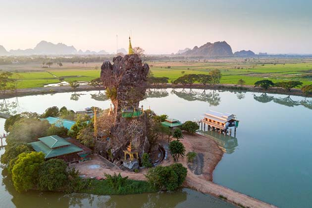 the extraordinary landscape of Hpa An