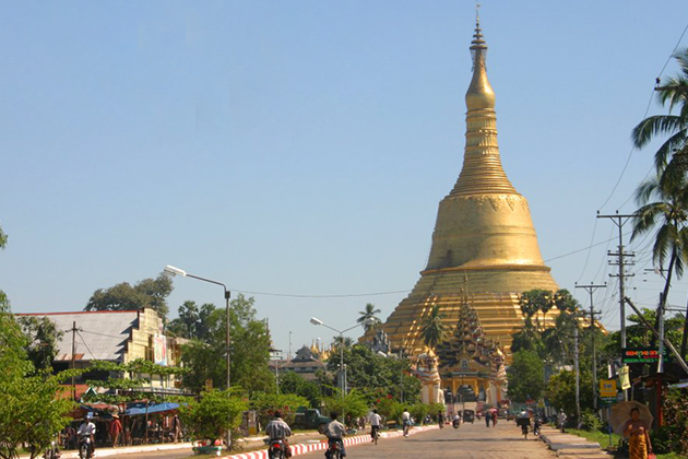 Panoramic view of Shwe Maw Daw