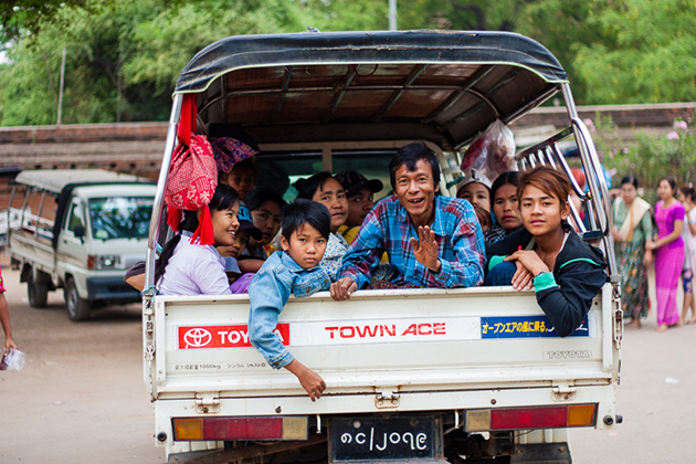 Travel Around Myanmar on Pick-up Trucks