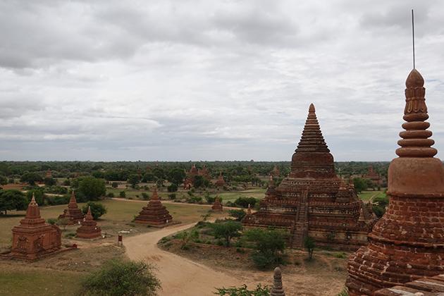 Bagan temples in rainy season