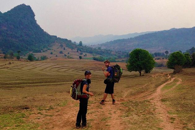 Kalaw trekking in rainy season