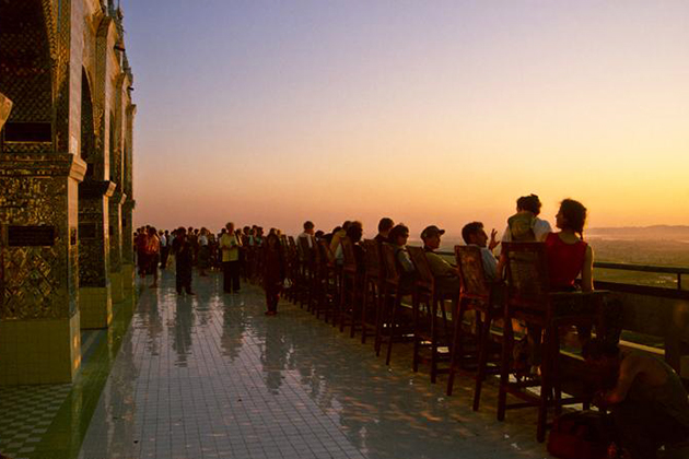 Watching sunset in Mandalay Hill