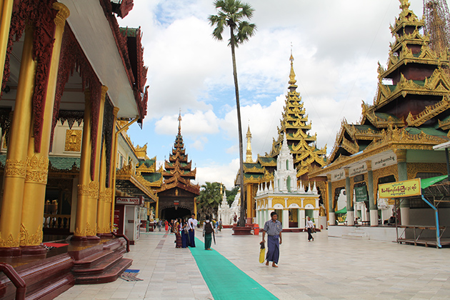Shwedagon Pagoda in Yangon-final stop of Myanmar tour 7 days