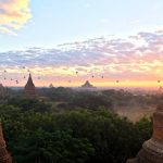 Sun set over Bagan