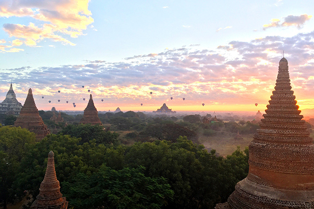 Behold Bagan sunset in Myanmar itinerary 7 days