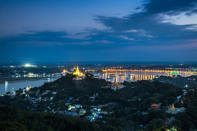 Sagaing hill at dusk