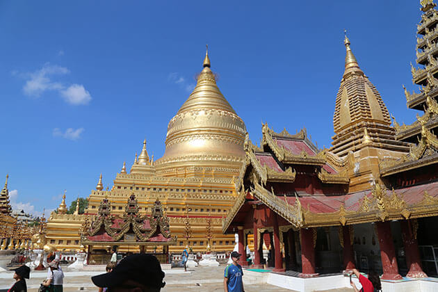 Shwezigon pagoda - one of the most famous attraction for 8 days myanmar tour