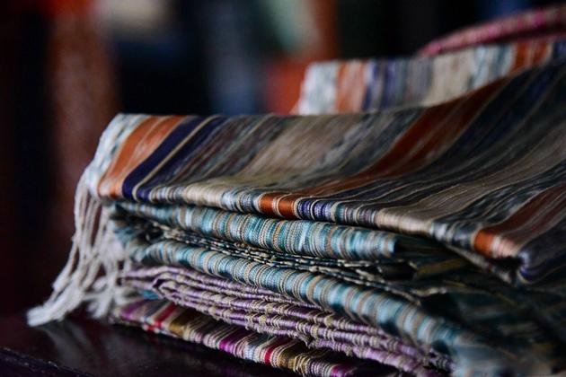 lotus silk scarf