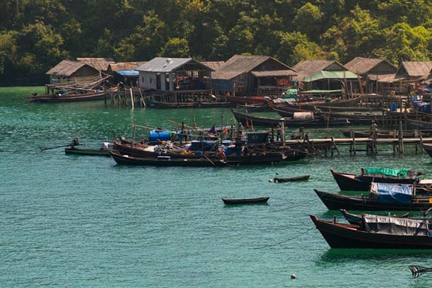 fishing village in Myeik Archipelago