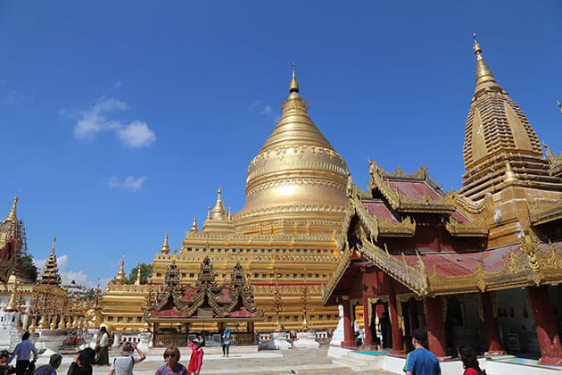 shwezigon pagoda - must see attraction in myanmar thailand tour