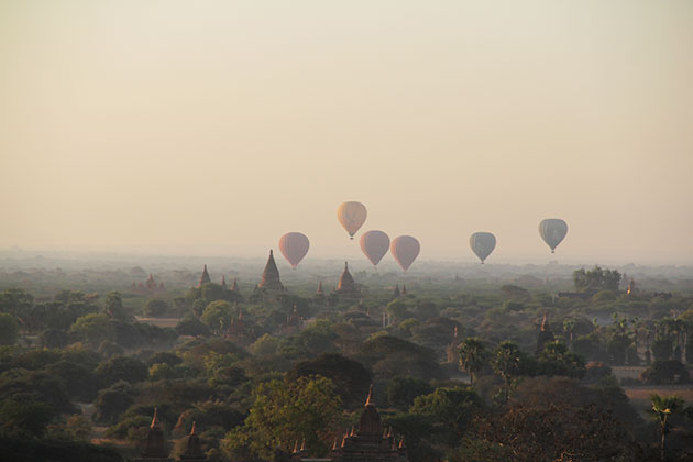 Behold the sunrise in Bagan in Myanmar itineraries 4 weeks