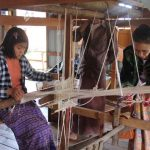 Explore the traditional lotus weaving in Inpawkon Village Inle Lake