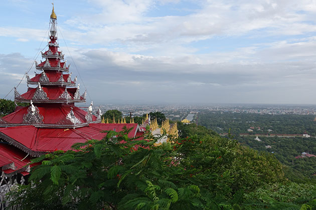 Gain the panoramic view from Mandalay Hill in Myanmar itineraries 4 weeks