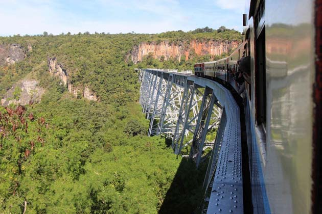 Gokteik Viaduct Train
