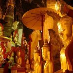 Golden Buddha Image in Pindaya Cave