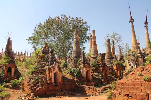 Indein old stupas
