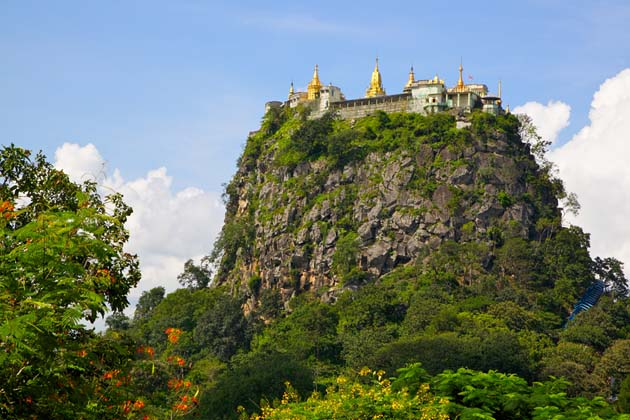 Mt Popa In Bagan