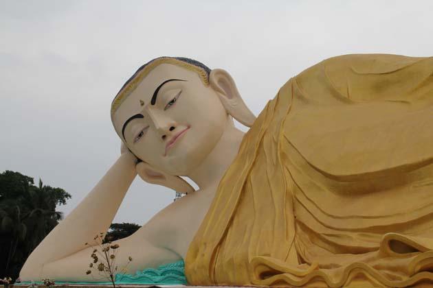 Mya Tha Lyaung Reclining Buddha Image in Bago