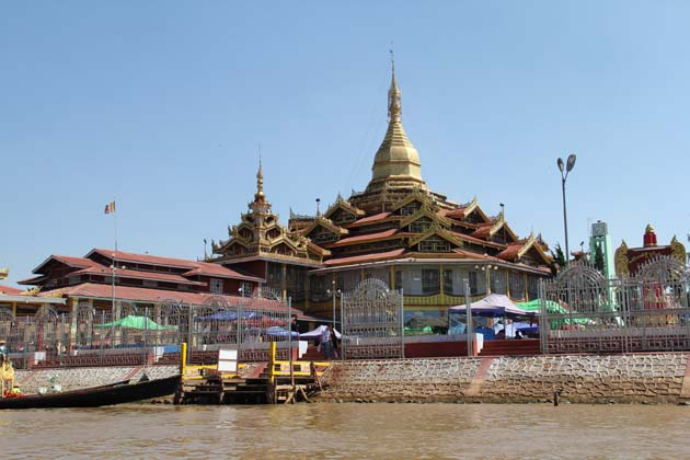 Phaung Daw Oo Pagoda the holiest religious site in southern Shan State
