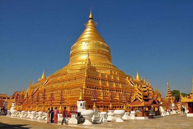 Shwezigon pagoda - a sacred spot visit in Myanmar beach vacation