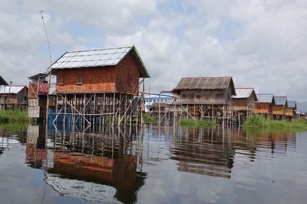 Stilt houses in Inle Lake