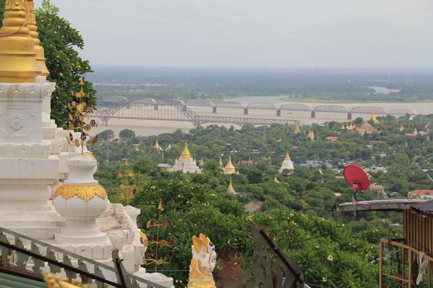 The beautiful Sagaing Hill overlooking Irrawaddy River