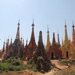 The excellent complex of ancient stupas in Indein