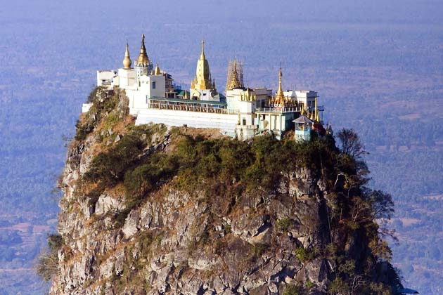 The spectacular Mount Popa